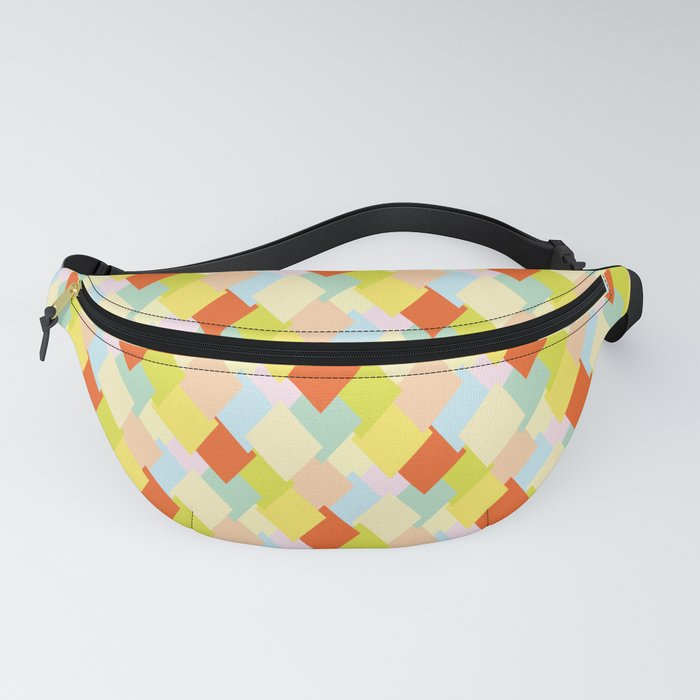 Colorful diamond pattern (warm) 80's vibe Fanny Pack