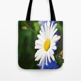 White Daisy Flower Loves Me Loves Me Not Tote Bag