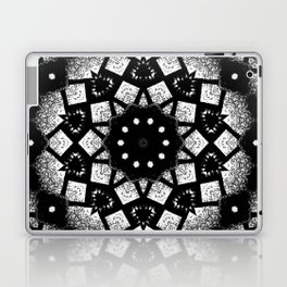 Black White Mosaic Kaleidoscope Mandala Laptop & iPad Skin