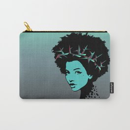 Girl portrait and skyline Carry-All Pouch