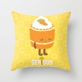 """Seriously """"Healthy"""" Carrot Cake Throw Pillow"""