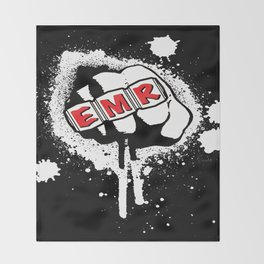 EMR crew logo rmd tweak Throw Blanket