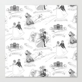 Pride and Prejudice Toile Canvas Print