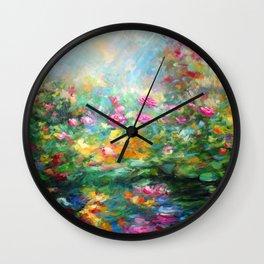 Roses paint  Wall Clock