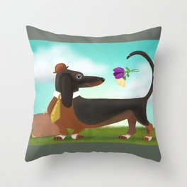 Stop And Smell The Flowers Throw Pillow