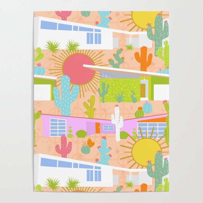 Midcentury Modern Desert Neighborhood Poster