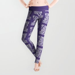 Of Course I Talk To Myself Sometimes I Need Expert Advice (Ultra Violet) Leggings