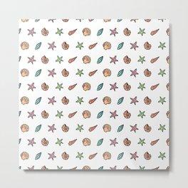 Sea Stuff Pattern Metal Print