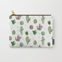 Cactus and Triangles Carry-All Pouch