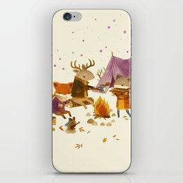 Critters: Fall Camping iPhone Skin