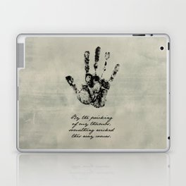 Shakespeare - Macbeth - Something Wicked This Way Comes Laptop & iPad Skin
