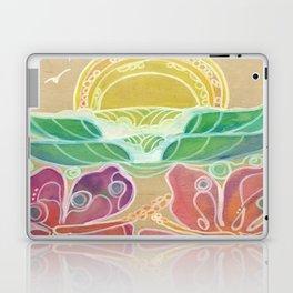 Double Hibiscus Surf Art by Lauren Tannehill Art Laptop & iPad Skin