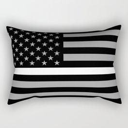 EMS: Black Flag & Thin White Line Rectangular Pillow
