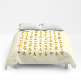 99 Slices of Za on the Wall Comforters