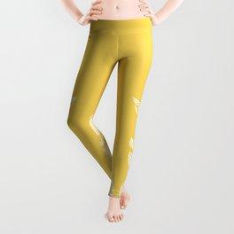 Banana Leaves on Yellow #society6 #decor #buyart Leggings