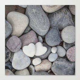 Heart Pebble Stone Mineral Love Symbol Canvas Print