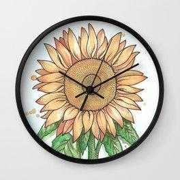 Cheerful Sunflower Wall Clock