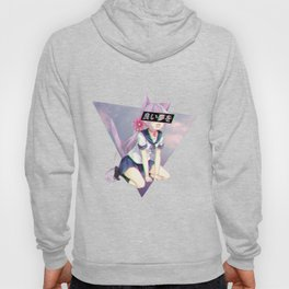 CAT GIRL NEKO GLITCH - SAD JAPANESE ANIME AESTHETIC Hoody
