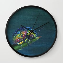Rainy Beetle Wall Clock