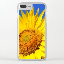 Sun Flower Clear iPhone Case
