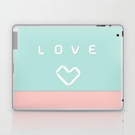 Paper love on mint green Laptop & iPad Skin