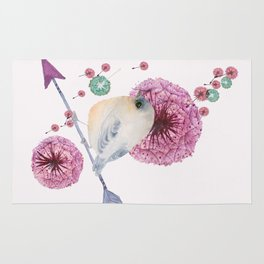 Cute Bird and Dandelion Rug