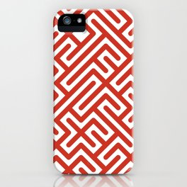 10 Print: Bold Red iPhone Case