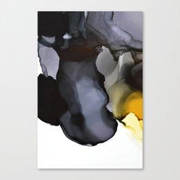 Black Ink Composition Canvas Print