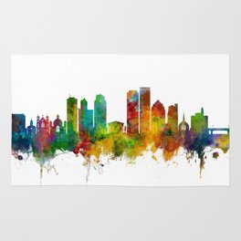 Dayton Ohio Skyline Rug
