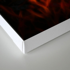 Fractal Flame Canvas Print
