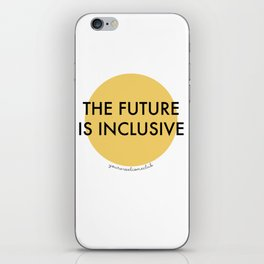 The Future Is Inclusive - Yellow iPhone Skin
