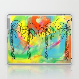Palm Trees Wish You the Best - summer colorful illustration California Los Angeles Hawaii Laptop & iPad Skin