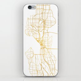 SEATTLE WASHINGTON CITY STREET MAP ART iPhone Skin