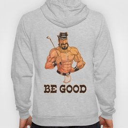 Be Good: Leather Muscular Man illustration Hoody