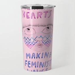 Mermaid Hearts Travel Mug