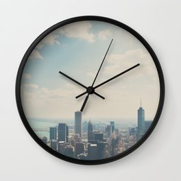 Looking down on the city ... Wall Clock