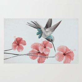 Hummingbird with Hibiscus Rug