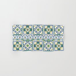 Italian Tile Pattern – Sicilian ceramic from Caltagirone Hand & Bath Towel