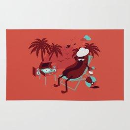 Tropical Hot Dog Rug