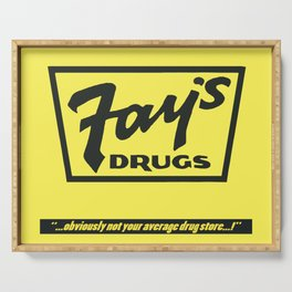 Fay's Drugs | the Immortal Yellow Bag Serving Tray