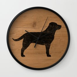 Black Labrador Retriever Silhouette Wall Clock