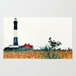 Fire Island Lighthouse HDR Photography Rug