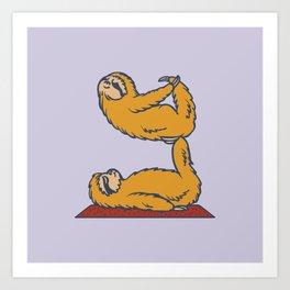 Acroyoga Sloth Art Print