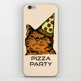 Pizza Party Cat: Funny Animal Kitty iPhone Skin