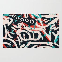 Street Art Pattern Graffiti Post Rug