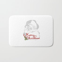 Jolly Santa Merry Christmas Bath Mat