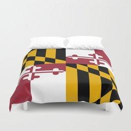 State flag of Flag Maryland Duvet Cover