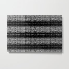 Binary Code in DOS Metal Print