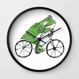 Tree Frog Riding BMX Bicycle Wall Clock