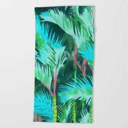 Palm Forest Beach Towel